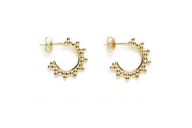 AGNES DE VERNEUIL Mini créoles trois perles
