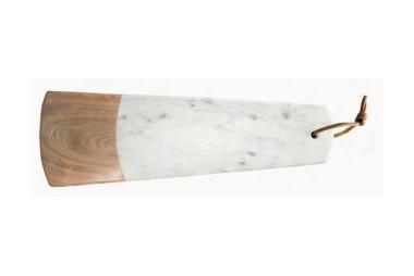 BE HOME Longue Planche Rectangulaire Marbre Bois