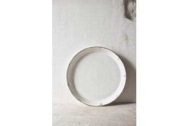 EPURE Assiette plate Simple et Or