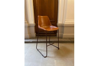 MANUFACTORI Tabouret de bar Cuir Marron