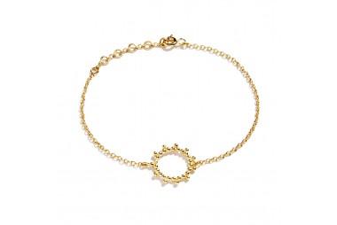 AGNES DE VERNEUIL Bracelet soleil Vermeil jaune
