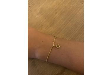AGNES DE VERNEUIL Bracelet chainette mini soleil Vermeil jaune